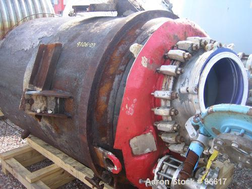 Used- 500 Gallon Pfaudler Closed Top Glass Lined Reactor