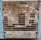 Used: Pfaudler glass lined clamp top reactor, 200 gallon, model RT40-200-10-100, 9125 white glass. Approximately 40