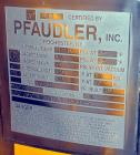 Used- Pfaudler RX Series Pharmaceutical Glass Lined Reactor, 75 Gallon, Vertical