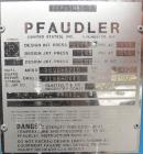 Used- Pfaudler Glass Lined Reactor, 50 gallon, 5015 blue glass, vertical. Approximate 26