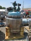 Used- Pfaudler 316 Stainless Steel Glass Lined Reactor, 100 Gallon, 4019 Glass. Internal rated 185 psi at 450 degreees F. or...