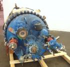 Used- Pfaudler Clamp Top Glass Lined Reactor, 200 Gallons, 9115 Blue Glass, Vertical.  Approximately 40