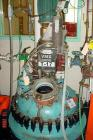 USED: Dedietrich 100 gallon glass lined reactor. Dished bolt on top, coned bottom. Internal rated 150 psi/FV at 500 deg F. J...