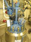 Used- Tycon Glass Lined Reactor, 50 Gallon, Type 808 Glass. Internal rated 150 psi and full vacuum at 450 degrees F, jacket ...