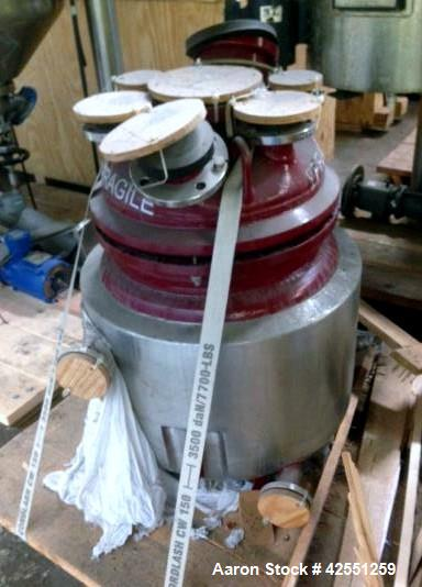 Unused- Tycon glass reactor body, rated 150 psi and full vacuum at +356/ -112 f internal, jacketed for 150 psi at +356/-112...