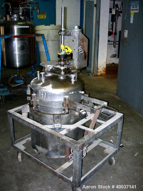 "Used-Used: Buckley Iron Works reactor, 35 gallon, stainless steel, vertical. 20"" diameter x 24"" straight side, dished clamp ..."