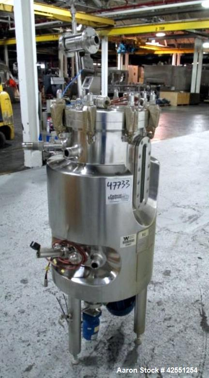 """Used- Sauter fermentation vessel,47 liter, 316L stainless steel construction, 13.5"""" diameter x 20"""" straight side, removable ..."""