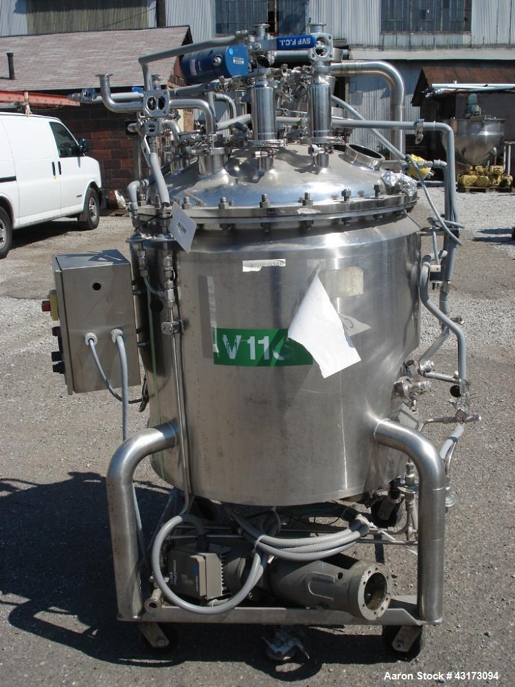"""Used-300 Liter DCI reactor, 316L stainless steel construction,  30"""" diameter x 26"""" straight side, Rated 30/-15 psig @ 300 de..."""