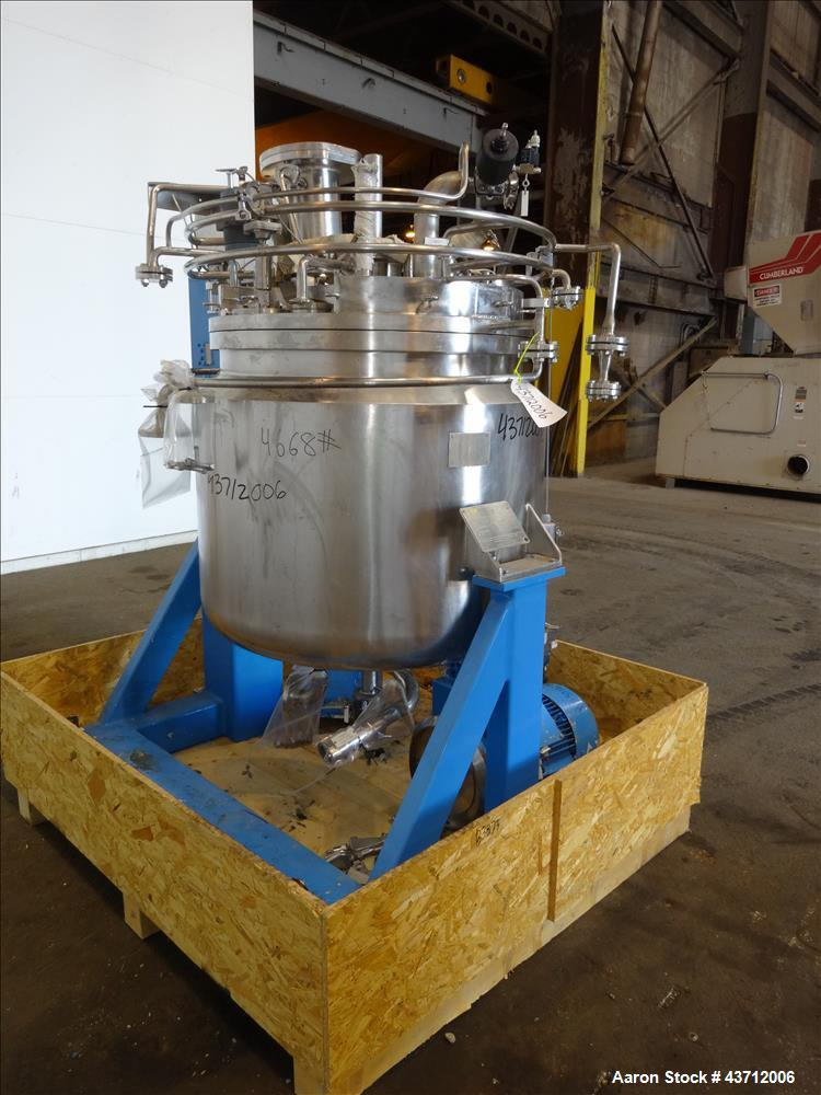 Used- Inox Reactor, 110 Gallon, 316 Stainless Steel, Vertical.