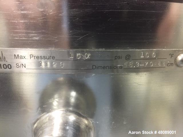 Used- Technikrom Chromatography Column. 100 Liter, 60cm diameter, adjustable bed length range 0-100cm. Flow rate up to 30 li...