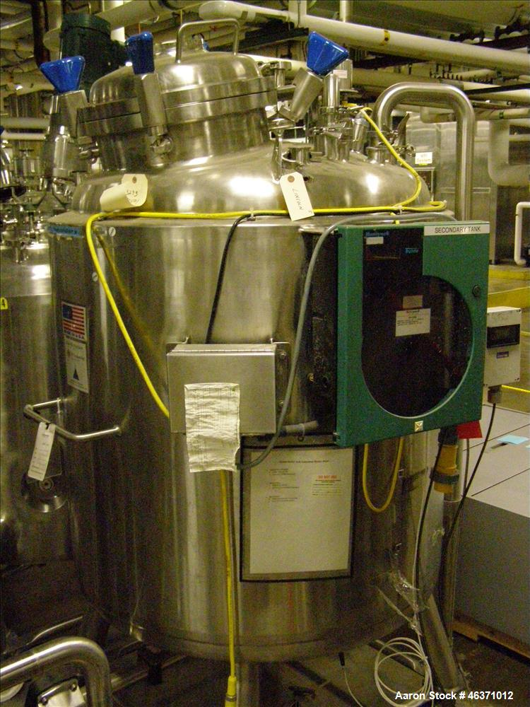 Used- Pureflo Tank, Approximate 158 Gallon (600 Liter), Stainless Steel.