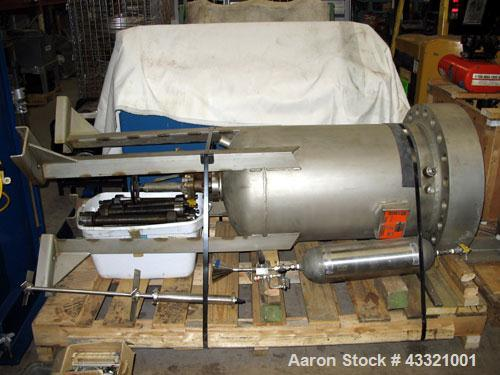 Used-All-Weld Reactor, approximately 55 gallons, stainless steel, vertical.  Bolt-on flat top, dished bottom.  Internal rate...