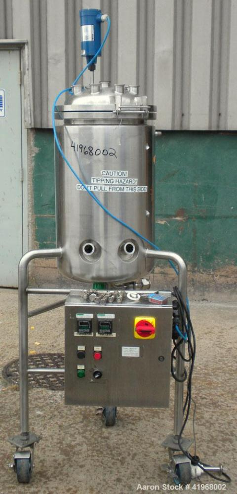Used- Allegheny Bradford Reactor, 13.2 gallon, 316L stainless steel, vertical. 14'' diameter x 24'' straight side, dished cl...