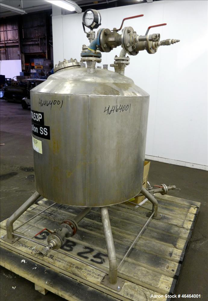 "Used- Alloy Fab Reactor, 100 Gallon, Model TA-53P, 316L Stainless Steel, Vertical. Approximate 30"" diameter x 28"" straight s..."