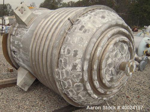 "Used- Alloy Fab Reactor, 1000 gallon, 316L stainless steel, vertical. 60"" diameter x 72"" straight side, 2:1 elliptical top a..."
