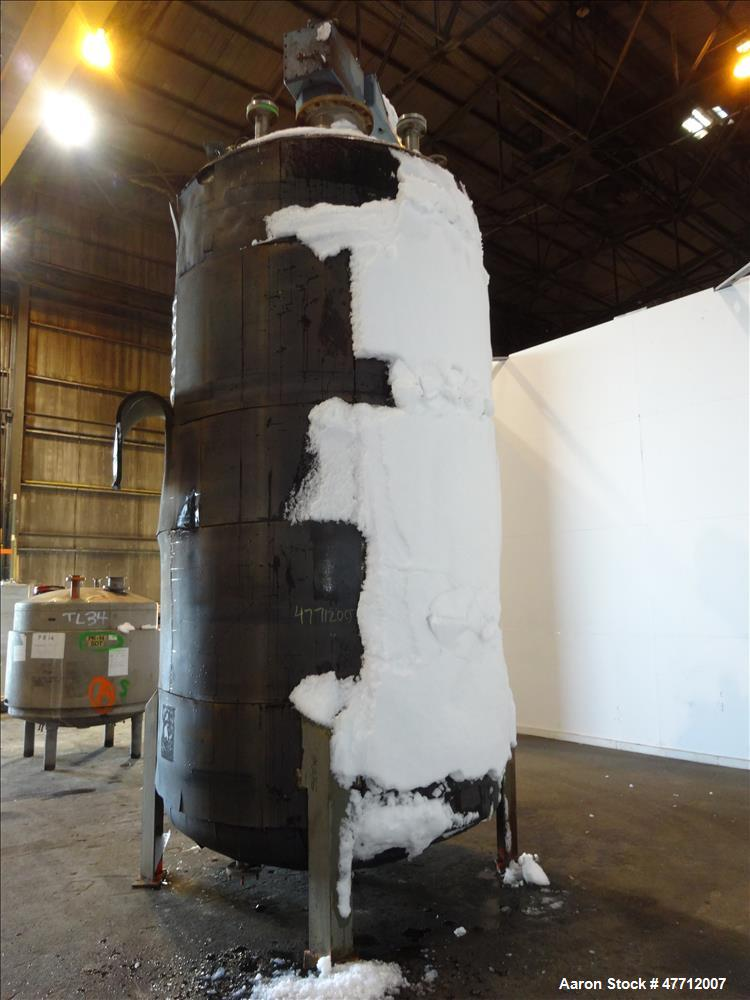 Used- Alloy Fab Inc. Reactor, 3,200 Gallon, 316 Stainless Steel, Vertical