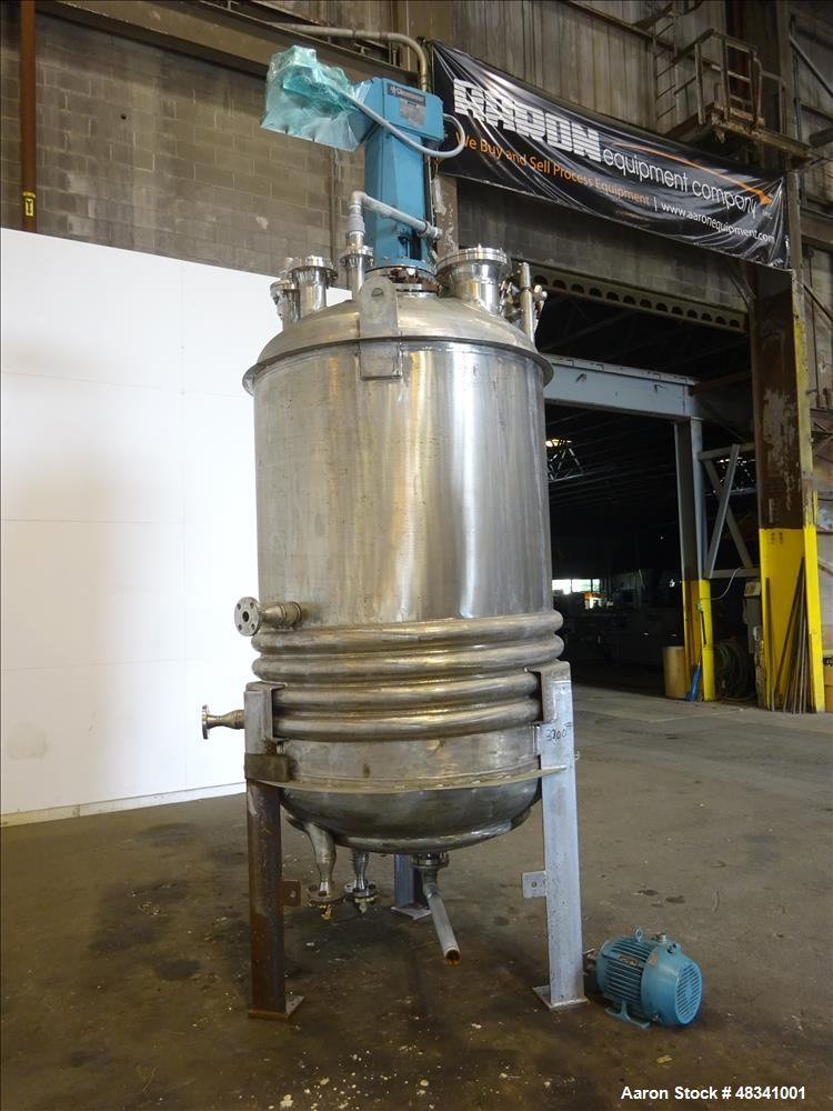 Used- Alloy Fab Reactor, 750 Gallon, 316L Stainless Steel, Vertical.