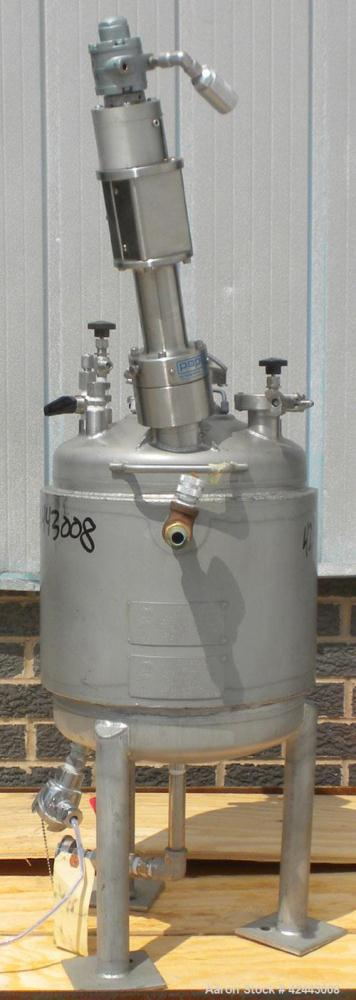 "Used- Alloy Products Reactor, 5 gallon, 316 stainless steel, vertical. Approximately 12'' diameter x 12"" straight side, dish..."