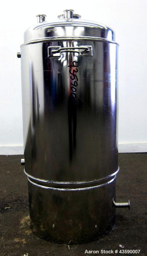 """Used- Alloy Products Reactor, 25 Gallon, 316L Stainless Steel, Vertical. Approximate 18"""" Diameter x 24"""" straight side. Dishe..."""