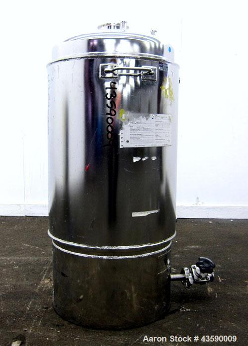 "Used- Alloy Products Reactor, 25 Gallon, 316L Stainless Steel, Vertical. Approximate 18"" Diameter x 24"" straight side. Dishe..."