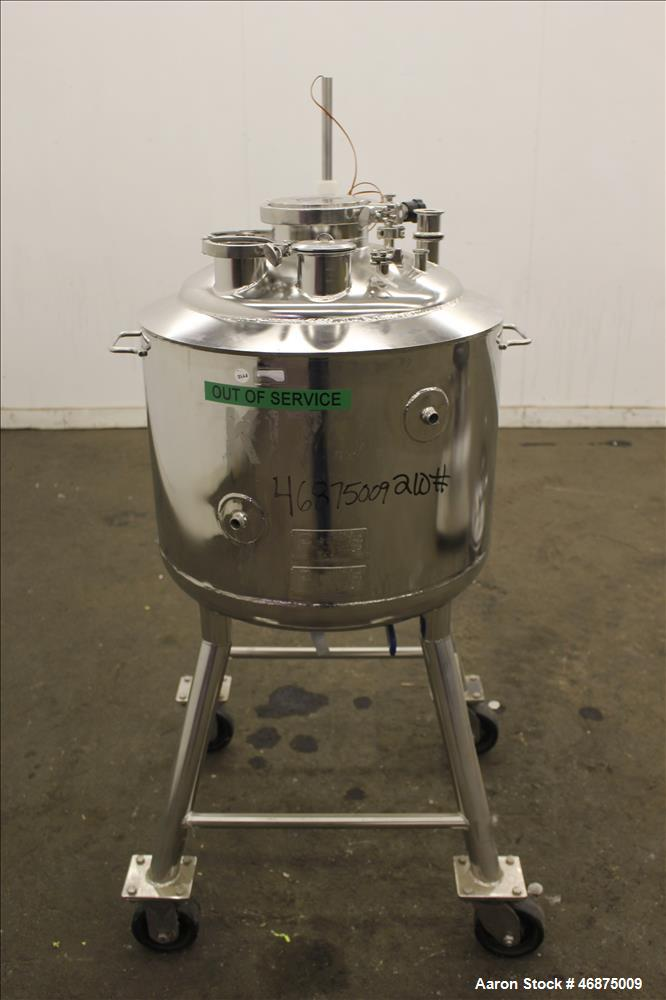 "Used- Alloy Products Reactor, Approximate 20 Gallons, 316L Stainless Steel, Vertical. Approximate 18"" diameter x 16"" straigh..."