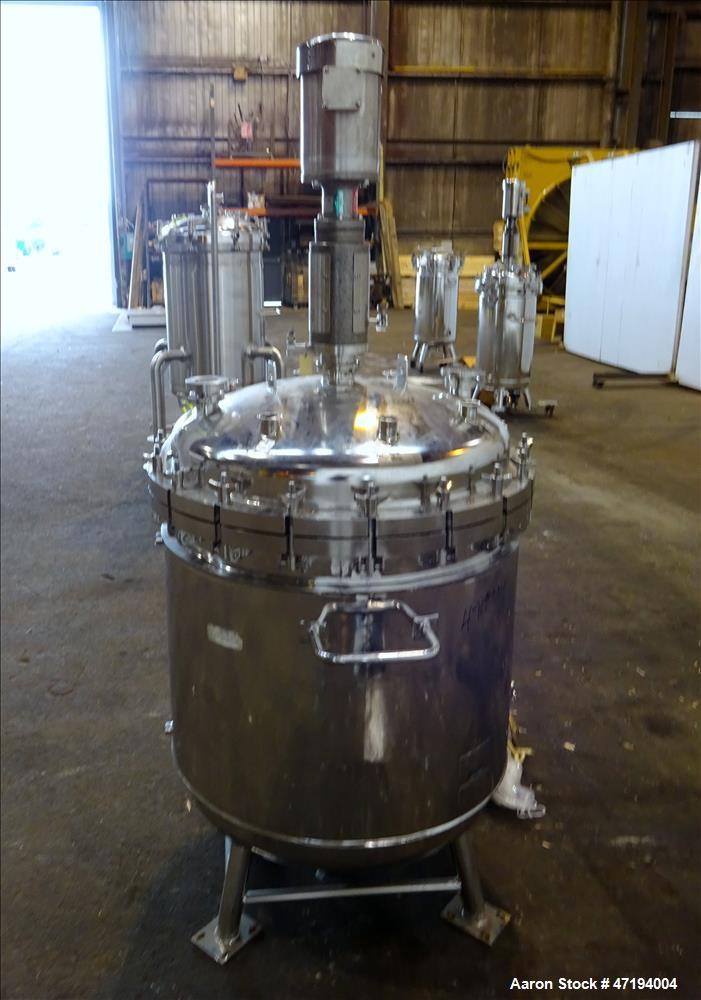 Used- Alloy Products Reactor, 100 Gallons, 316L Stainless Steel, Vertical.