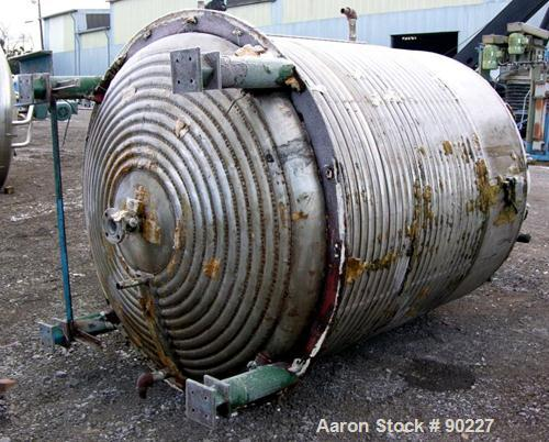 "Used- Alpha Reactor, 1100 Gallons, 316L Stainless Steel, Vertical. 66"" Diameter x 72"" straight side, dished top and bottom. ..."