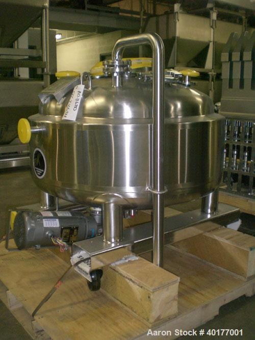 """Unused: Apache Stainless reactor, 90 gallons, stainless steel, vertical. Electro polished internal approximately 36"""" diamete..."""
