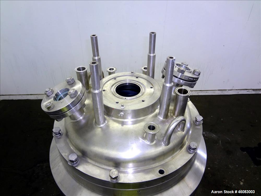 """Used- APV Crepaco Reactor, 50 Gallon, 304 Stainless Steel, Vertical. 24"""" Diameter x 30"""" straight side, bolt on dish top, dis..."""