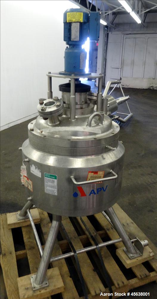 Used- APV Crepaco Reactor, 20 Gallon, 304 Stainless Steel, Vertical