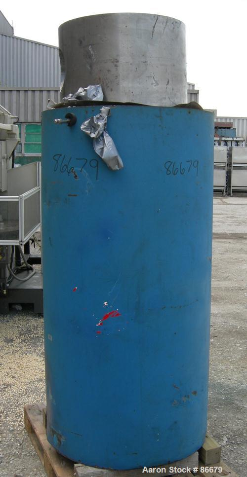 """USED: Autoclave Engineers pin closure pressure vessel/reactor, 42 gallon (158 liter), 304 stainless steel, vertical. 15"""" dia..."""