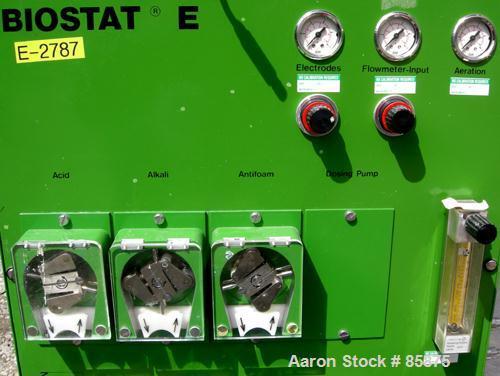 """Used- B Braun Biostate E Compact Lab Fermenter, 2.6 Gallon, Type 880263/7. Borosilicate glass vessel, approximate 8"""" diamete..."""