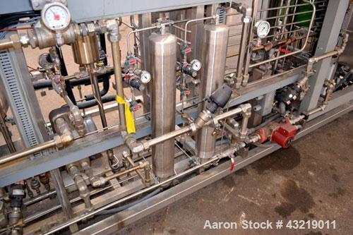Used- B Braun Bio-Tech Reactor System, Type B33404, Stainless Steel. Consisting of: (2) Precision Stainless reactors, 300 li...