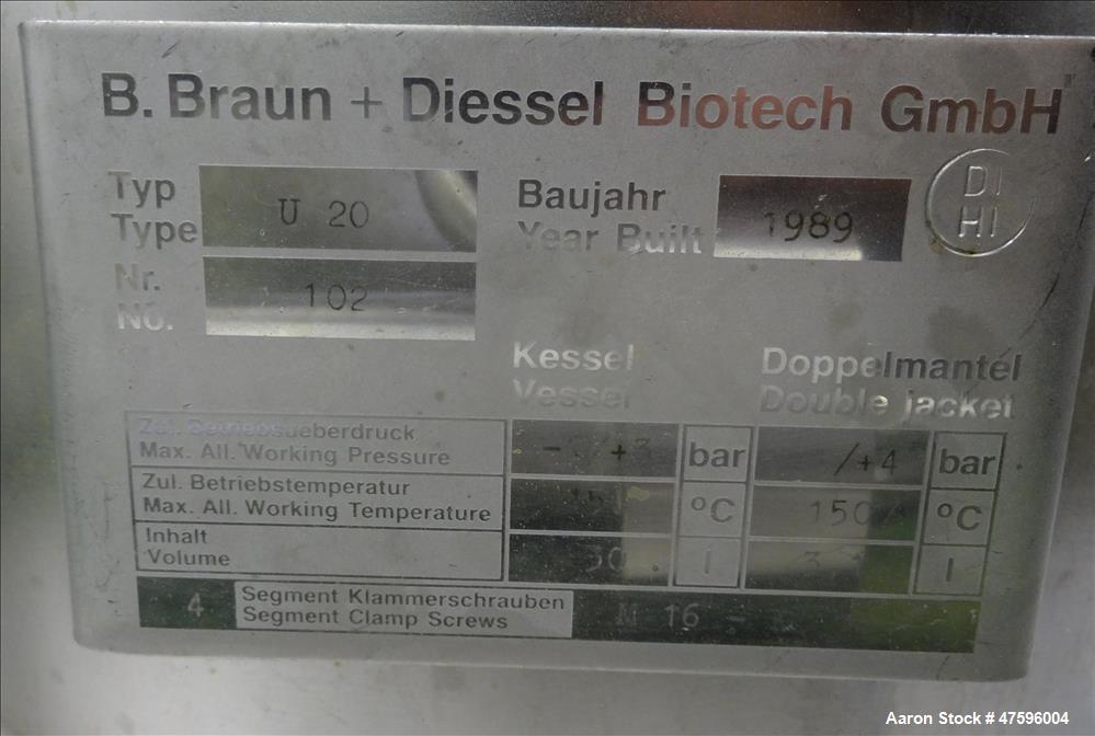 Used- B. Braun Fermentor System