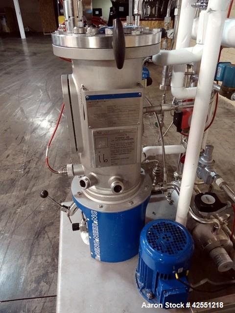 Used- Bioengineering Fermentor, 16 Liter (4.2 Gallon), Stainless Steel.