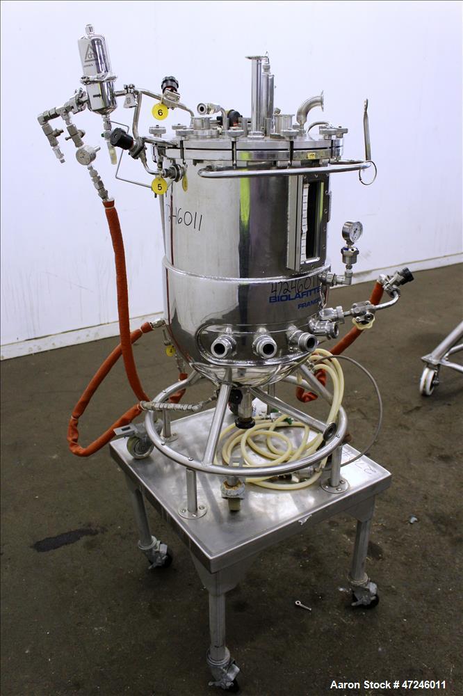 Used- Biolafitte Reactor, 63 Liter (16.6 Gallon), 316 Stainless Steel, Vertical.