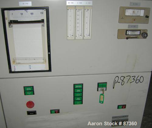 """USED- Chemap AG Fermenter, 3000 Liter (792 Gallons), 316 Stainless Steel, Vertical. 42"""" diameter x 112"""" straight side, dishe..."""