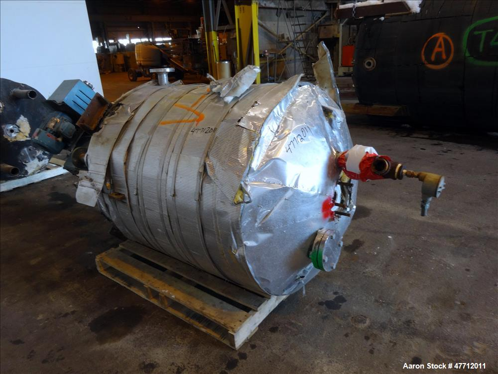 "Used- Chemineer Reactor, 200 Gallon, 316L Stainless Steel, Vertical. Approximate 38"" diameter x 42"" straight side, dish top ..."