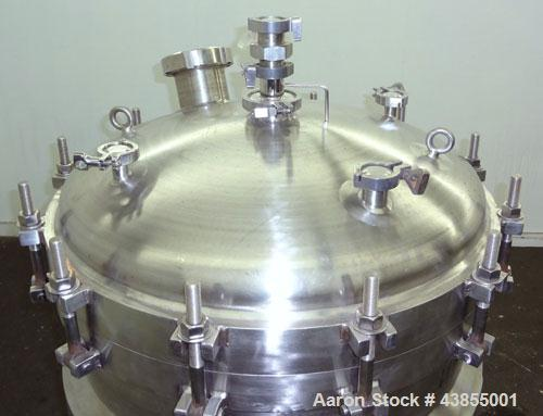 Used- 110 Gallon Stainless Steel Cherry-Burrell Reactor