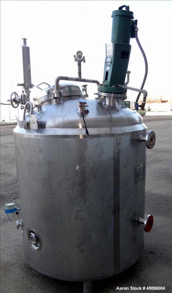 Used- Cherry Burrell Reactor, 350 Gallon, 316L Stainless Steel, Vertical