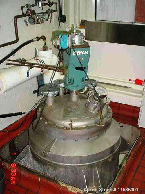 Used- DCI Reactor 50 Gallon, T316L Stainless Steel. Internal rated 150 PSI/full vacuum @ 400 Degrees F. Jacket rated 90 PSI ...