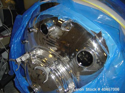 Used- DCI 396 gallon Reactor, polished 316SS, Vessel M.A.W.P.+30/-15 psi @ 268 Deg F. JacketM.A.W.P.100 psi @316 Deg F. 1500...