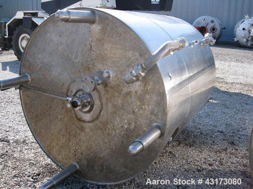 "Used- DCI Reactor, 2500 Liter (660 Gallon), 316L Stainless Steel Construction. 56"" Diameter x 61"" straight side, dish top an..."