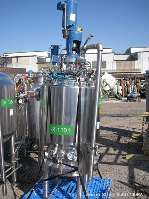 """Used- DCI Reactor, 250 Liter (66 Gallon), 316L Stainless Steel Construction. 24"""" Diameter x 34"""" straight side, dished remova..."""