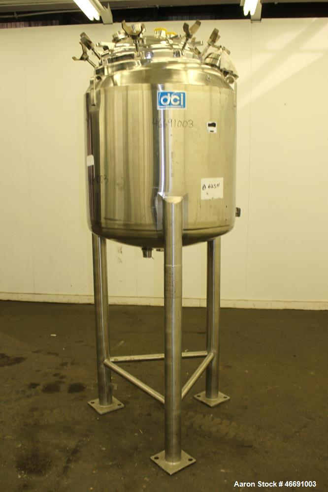 Used- DCI Reactor, 300 Liter (79.25 Gallon), 316 Stainless Steel, Vertical.