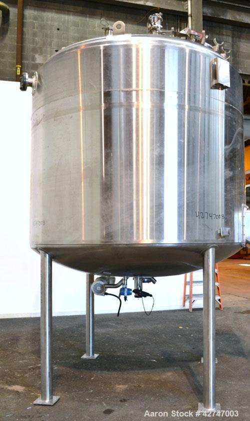 Unused- DCI Reactor, 8200 Liter (2166 Gallon), 316L Stainless Steel, Vertical. 90'' Diameter x 68'' straight side, dished to...