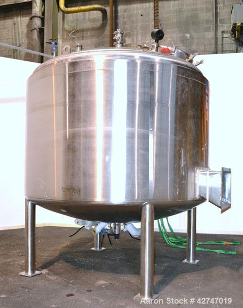Unused- DCI Reactor, 13000 Liter (3435 Gallon), 316L Stainless Steel, Vertical. 114'' Diameter x 66'' straight side, dished ...