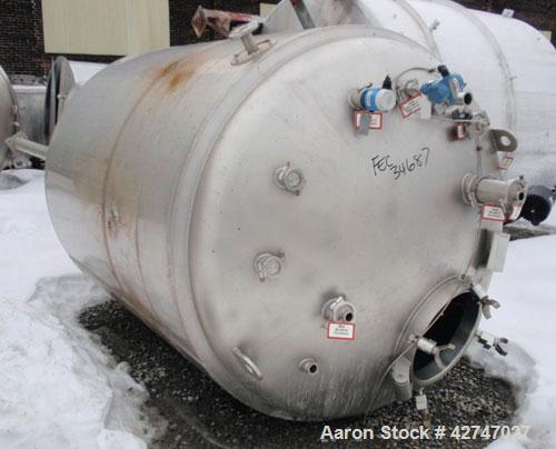 Unused- DCI Reactor, 4700 Liter (1242 Gallon), 316L Stainless Steel, Vertical. 66'' Diameter x 77'' straight side, dished to...