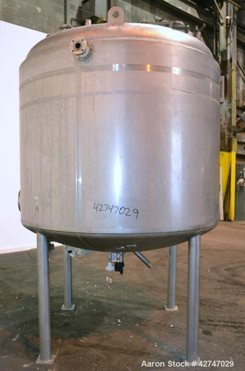 Unused- DCI Reactor, 4000 Liter (1057 Gallon), 316L Stainless Steel, Vertical. 72'' Diameter x 52'' straight side, dished to...