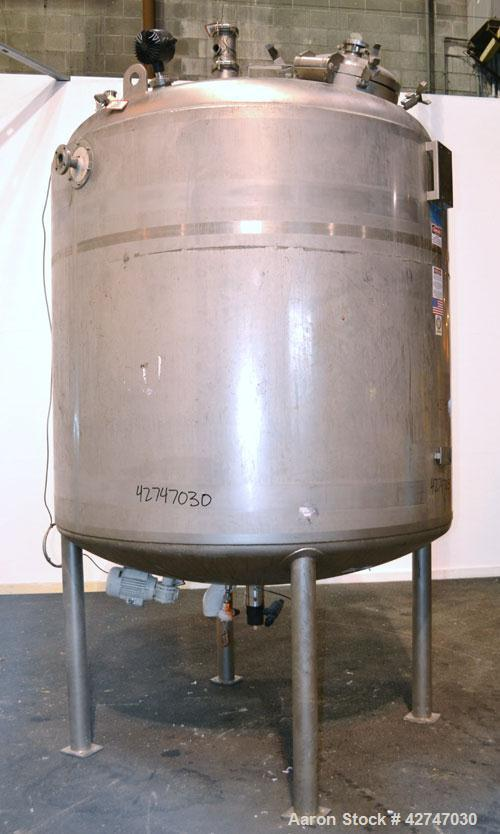 Unused- DCI Reactor, 4700 Liter (1242 Gallon), 316L Stainless Steel, Vertical. 72'' Diameter x 62'' straight side, dished to...
